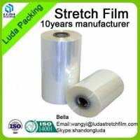 Buy cheap 50micron Max Clear LLDPE Stretch Film Thick Plastic Roll Transparent from wholesalers
