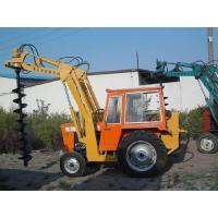 Construction machinery Cement pole digging machine