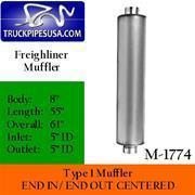 Buy cheap NEW PARTS ADDED M-1774 Type 1 Muffler for Freightliner 8'' Body 55'' Long from wholesalers