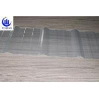 Buy cheap Clear Color Transparent Corrugated Roofing Sheets Fiberglass Material High Strength Sun Sheet from wholesalers