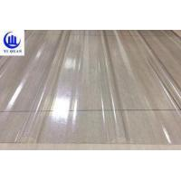 Buy cheap Transparent Corrugated Clear Polycarbonate Roofing Sheets Wave Or Trapezoidal Type from wholesalers