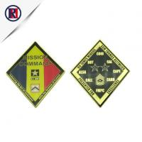 Buy cheap Rhombus Shape Gold Army Military Coin from wholesalers
