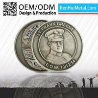 Buy cheap Engraved Personalized Silver Military Coins Holder from wholesalers