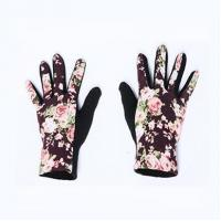 Buy cheap Ladies Cashmere Knitting Crochet Floral Gloves from wholesalers