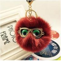 Buy cheap Faux Fur Garments Animal Model Ball Top Wholesale Keyring from wholesalers