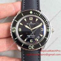 Buy cheap Swiss Replica Blanpain Fifty Fathoms Automatic Mens Watch SS Case Black Bezel product