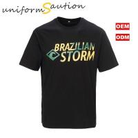 Buy cheap Custom 100% combed cotton black brazil tshirt from wholesalers