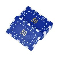 Buy cheap Poker Plaques ABS Material Rectangular Poker Chips With Gold hot Stamp Printing from wholesalers