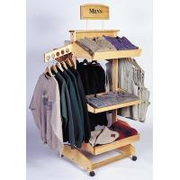 Buy cheap Wooden Clothes Display Clothing Hanging Shop Shelving Display from wholesalers