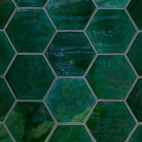 Buy cheap Green Hexagon Mosaic Tiles from wholesalers