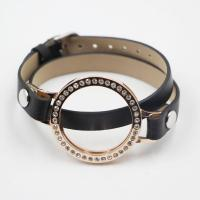 Buy cheap Leather coin locket bracelet for 33mm coin disc from wholesalers