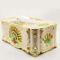 Buy cheap European retro rectangular tissue box tray pumping station houses ornament decor from wholesalers