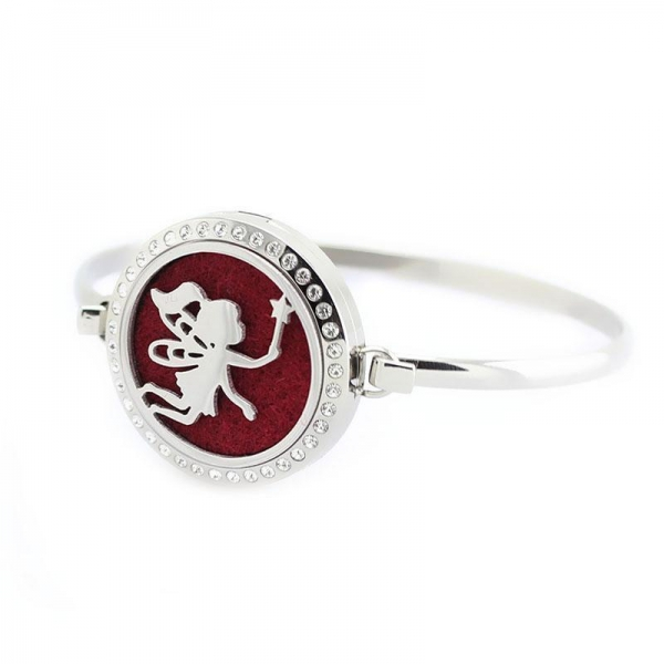 Buy cheap 316L Stainless Steel Butterfly Stamped Perfume Locket Bracelet Bangle from wholesalers