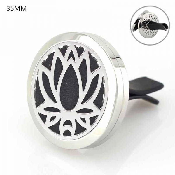 Quality Car Air Freshener 316L Stainlss Steel cross Locket perfume vent clip for sale
