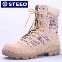 Genuine Leather padded collar SBP military shoes