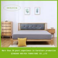 Buy cheap king size wooden bed frames with upholstered headbaord from wholesalers