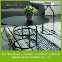 Buy cheap hot sale black metal round coffee table set from wholesalers