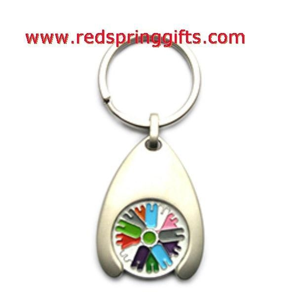 Quality TC-006 promotional trolley token, coin keyring, shopping trolley coin keychain for sale