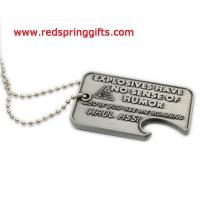 Buy cheap lapel pin& enamel badge DT-010 ballchain dog tag with bottle opener, antique dog tag product