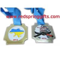 Buy cheap MD-020 high quality customized medal with blue ribbon product