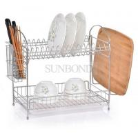 Buy cheap 2 tiers kitchen dish drainer rack stainless steel dish rack from wholesalers