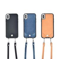 Apple iPhone Cases Crossbody Leather Shoulder Strap Flip Wallet iphone X Case