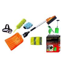 Buy cheap Ice scraper snow brush LED lamp car wash brush reflective vest snow shovel combination sets from wholesalers