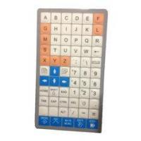 China Special customs membrane keyboard with flat keys, customized layout supplier from China on sale