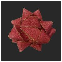 Buy cheap Polyester Metallic Ribbon flowers with golden edge from wholesalers