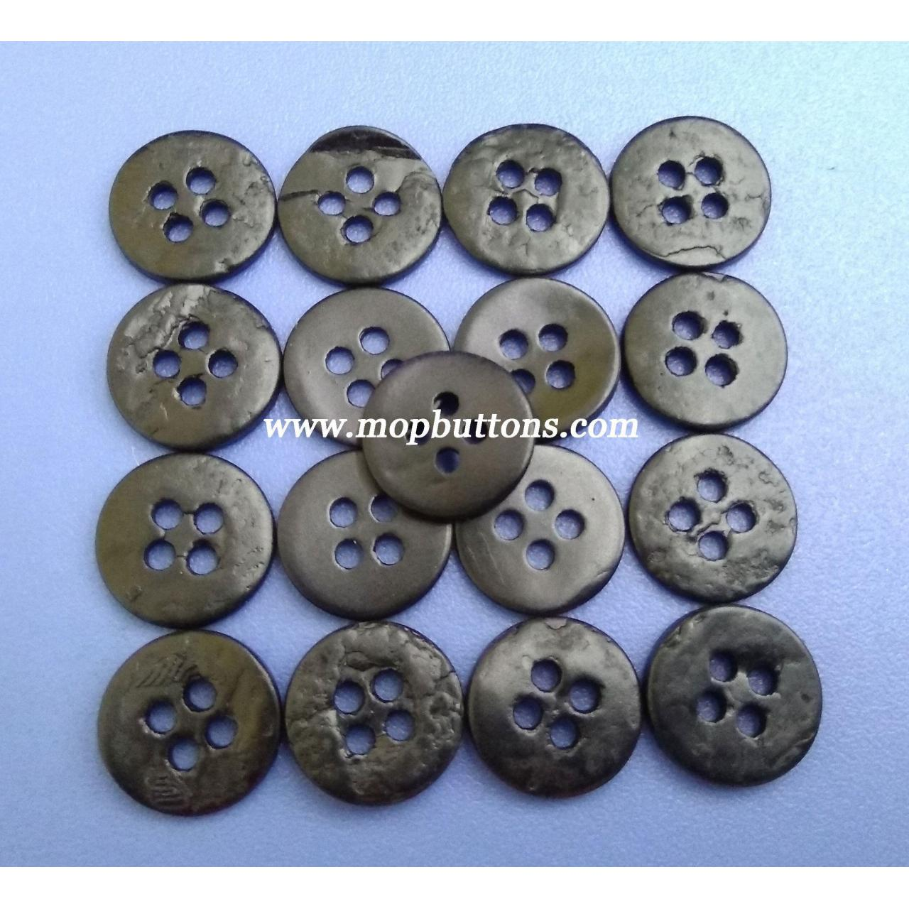 Buy cheap Matt Black Coated 4Holes Japanese Agoya Shell Buttons Garment Accessories from wholesalers