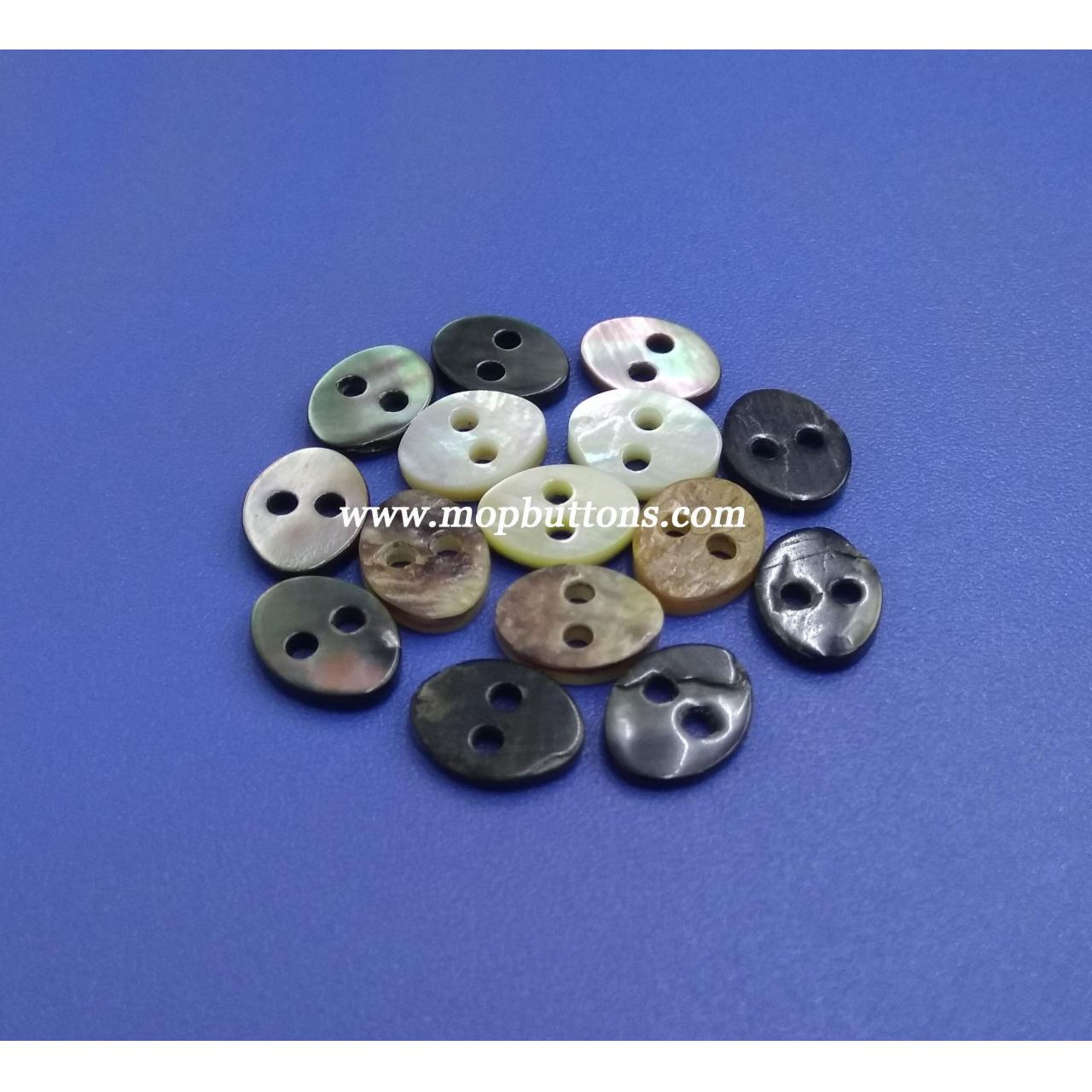 Buy cheap Novelty Oval Japanese Akoya Buttons from wholesalers