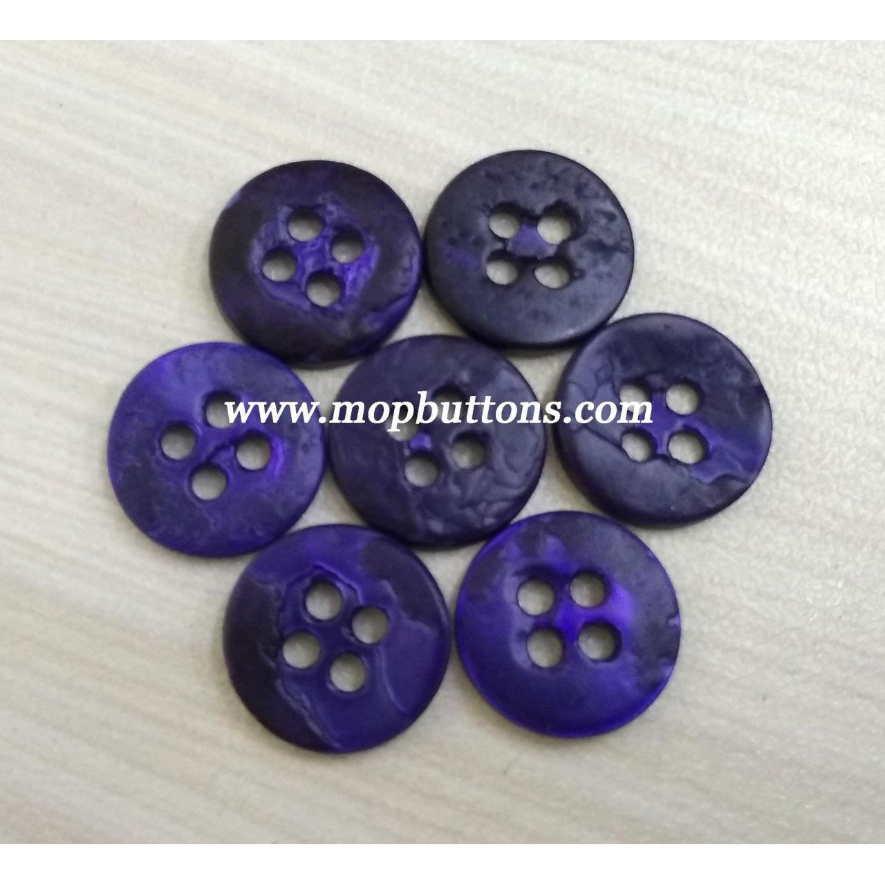 Buy cheap Shiny Dark Blue Dyeable Japanese Agoya Shell Buttons for Children's Clothes from wholesalers