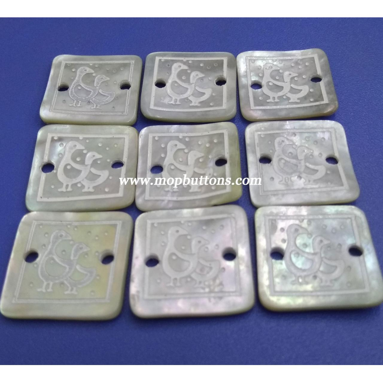 Buy cheap Square Patten Laser Japanese Agoya Buttons from wholesalers