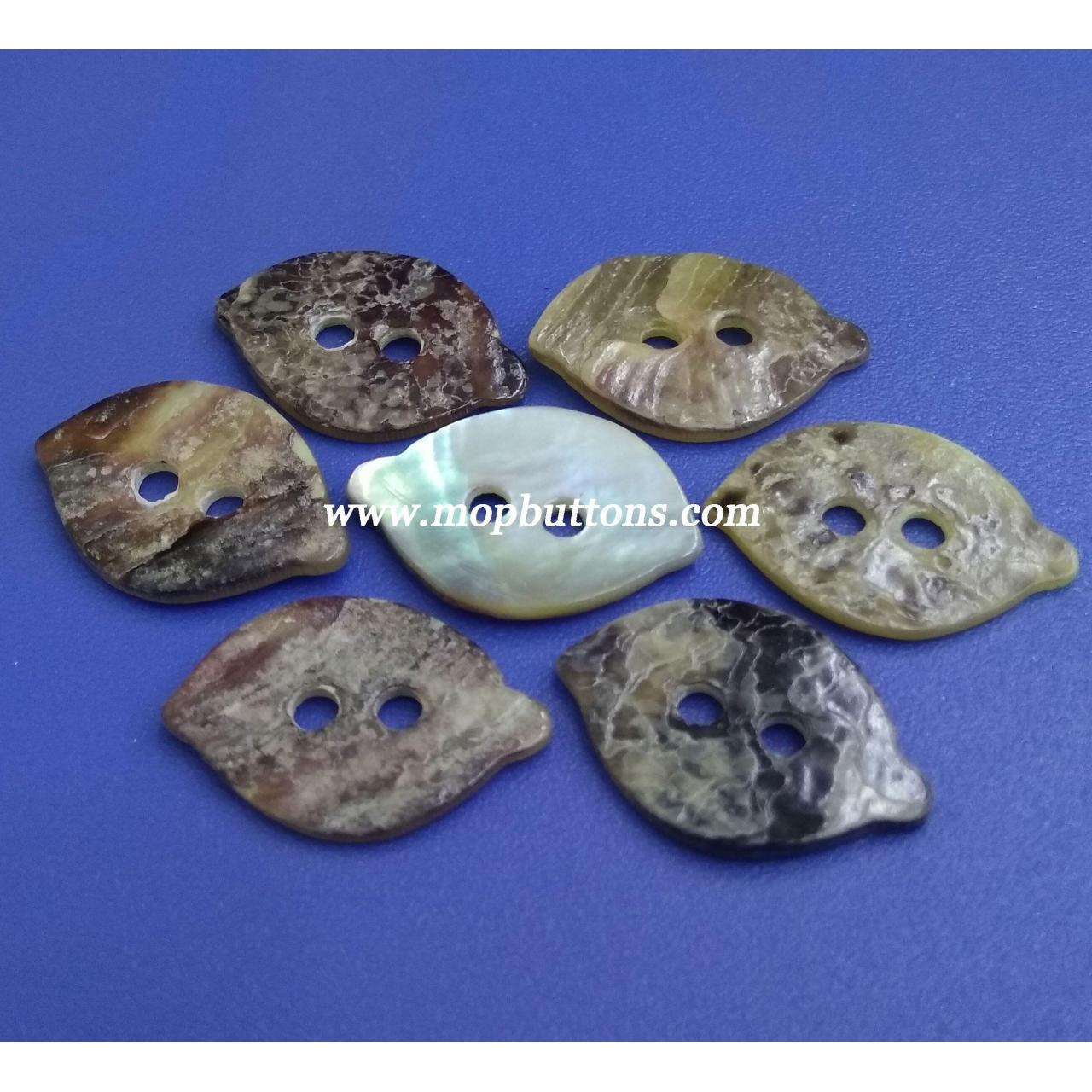Buy cheap 28L Leaves DIY Design Japanese Agoya Shell Material Baby Clothes Buttons from wholesalers