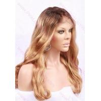 Buy cheap Full Lace Wigs T-4/27 Honey Blonde Body Wave Glue-less Full Lace Wig 18 inches from wholesalers
