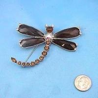 Buy cheap Topaz Crystal Dragonfly Pin from wholesalers