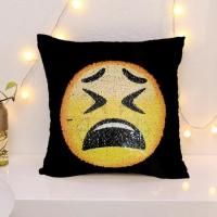 Buy cheap Reversible Sequin Emoji Cushion Covers Dropshipping from China product