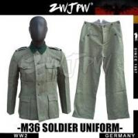 Buy cheap GERMAN MILITARY German WW2 Army M36 Soldier Cotton Field Suit Uniform WIinter Gray Woolen from wholesalers