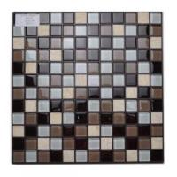 Buy cheap Mosaic Brown Glass Stone Marble Mosaic Tile from wholesalers
