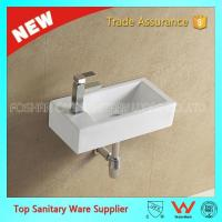 Buy cheap art counter basin large ceramic wall mounted sink from wholesalers