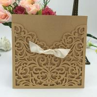 Buy cheap LMWI-003 floral Wholesale laser cut wedding invitation cards from wholesalers
