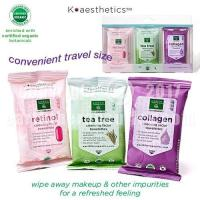 Buy cheap SKIN THERAPY K-aesthetics Organic Cleansing Facial Towelettes - mini 3 pk from wholesalers