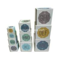 Buy cheap Cardboard Alphabet Nesting Stacking Blocks from wholesalers