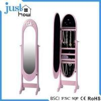 Buy cheap Standing Mirror Jewelry Armoire Standing Jewellery Cabinet from wholesalers