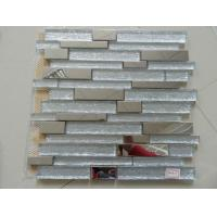 Buy cheap Mosaic Strip Metal Mixed Glass and Travertine Decorate Mosaic Tile for Wall from wholesalers