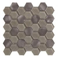 Buy cheap Other Shape Hexagon Tile Aluminum Metal Mosaic for Bathroom Kitchen Tile from wholesalers