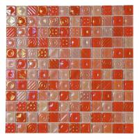 Buy cheap Hot Sale Electroplate Golden, Silver, Rainbow Mix Convex Surface Mix Frosted Glass Mosaic from wholesalers