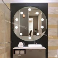 Buy cheap Round Wall Mounted LED Mirror Customized Size CE IP44 Bathroom Illuminated Mirror from wholesalers