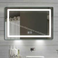 Buy cheap Luxurious Frosted Mirror Design Illuminated Demister Bathroom Mirrors with High Output 2835 LEDs from wholesalers