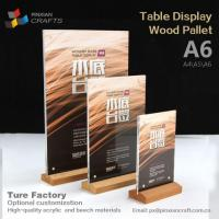 Buy cheap A6 Wooden Menu Display Stands from wholesalers